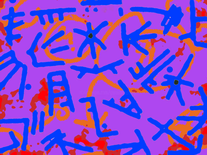 The Sound Of A Headless Choir - Digital Arts, ©2019 by Gerald Shepherd -                                                                                                                                                                                                                                                                                                                                                                                                          Abstract, abstract-570, Abstract Art, digital painting, abstract, pattern, symbols, sequences