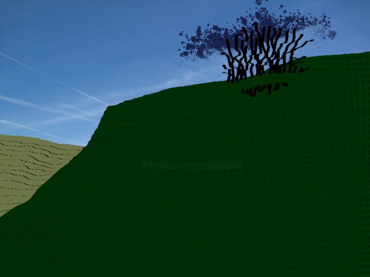 The Small Plantation - ©  digital art, digital painting, landscape, trees, hillside Online Artworks