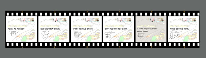 Film Strip - ©  digital art, film strip, abstract, symbols, diagrams, maps, sequence, sequence art Online Artworks