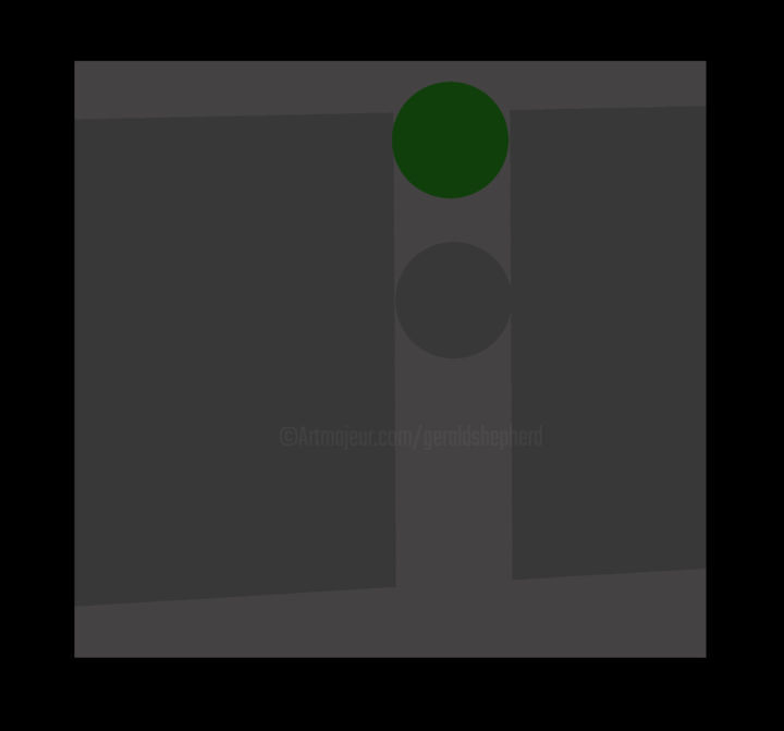 Arranged Green - © 2016 geometric, abstract, green, circle Online Artworks