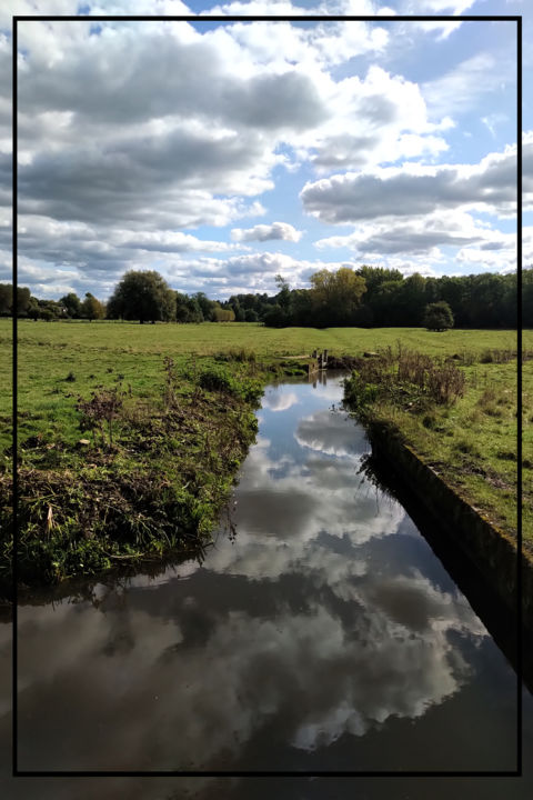 I Know Life Goes On - © 2020 river avon, Salisbury water meadows, reflection, clouds Online Artworks