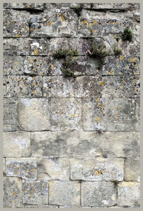 The Climb - Digital Arts, ©2020 by Gerald Shepherd -                                                                                                                                                                                                                                                                                                                                                                                                                                                                                                  Abstract, abstract-570, Abstract Art, Patterns, Wall, The Cathedral Close, Salisbury, Old Sarum, stones, composition