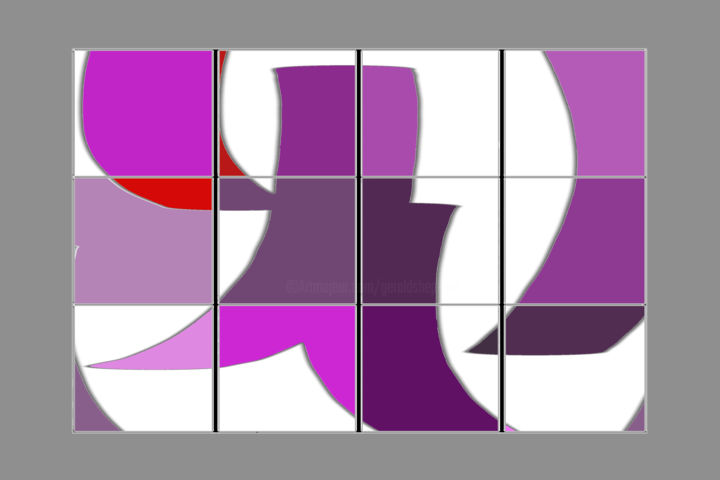 Captive Gestures - © 2020 computer art, digital painting, movement, gestures, abstract painting, violet Online Artworks