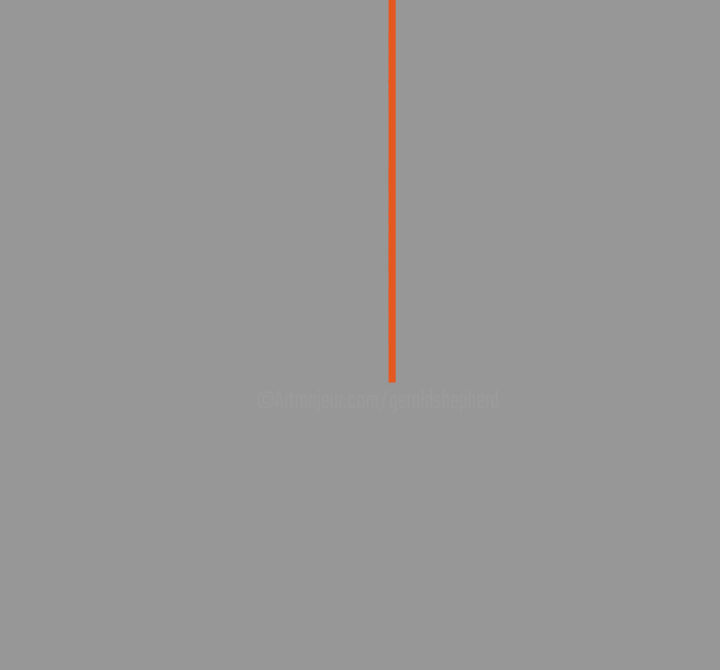 One Orange Line - Digital Arts, ©2020 by Gerald Shepherd -                                                                                                                                                                                                                                                                                                                                                                                                          Minimalism, minimalism-606, Abstract Art, digital minimalism, computer art, digital painting, orange line, orange and grey