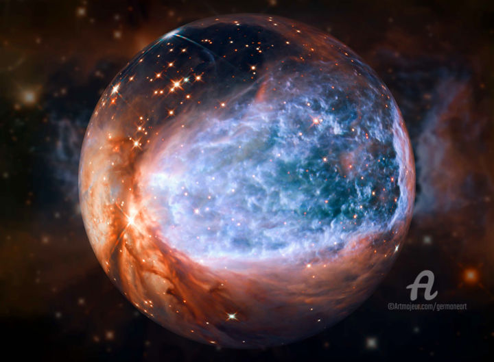 """Photography titled """"NGC 4526"""" by Germaneart, Original Art, Digital Photography"""