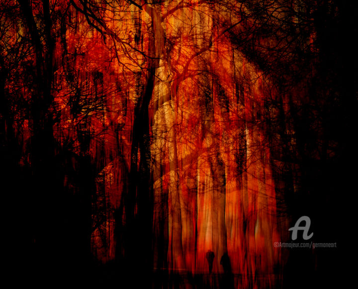 Escape From The Red Forest Digital Arts By Germaneart