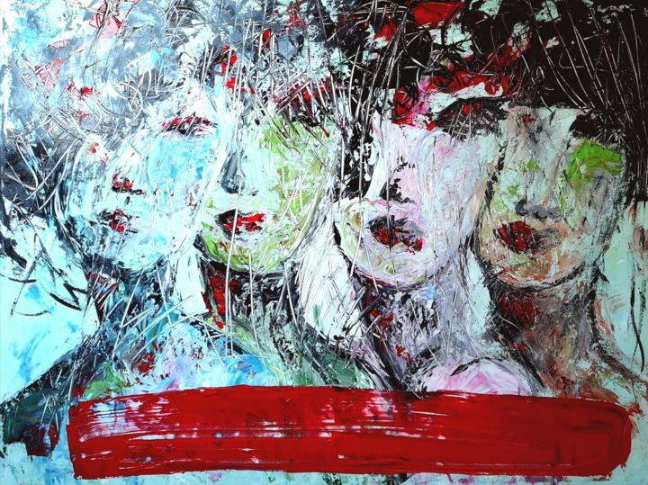 """Painting titled """"HER"""" by Getty Tatomir, Original Art, Acrylic"""