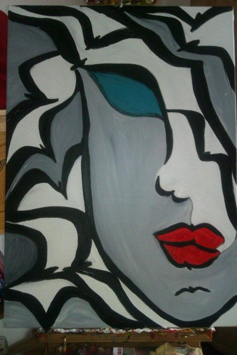 """Painting titled """"MY FREE EVE"""" by Getty Tatomir, Original Art, Oil"""