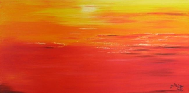 COUCHER - Painting,  11.8x23.6x0.4 in, ©2007 by Ghislaine Driutti -