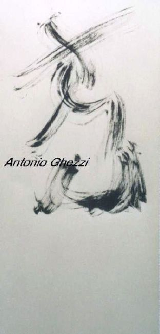 """Painting titled """"Voltige"""" by Ghezzi, Original Art, Ink"""