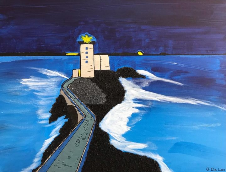 """Painting titled """"Lighthouse #11 in t…"""" by Gianluca De Leo, Original Art, Acrylic"""