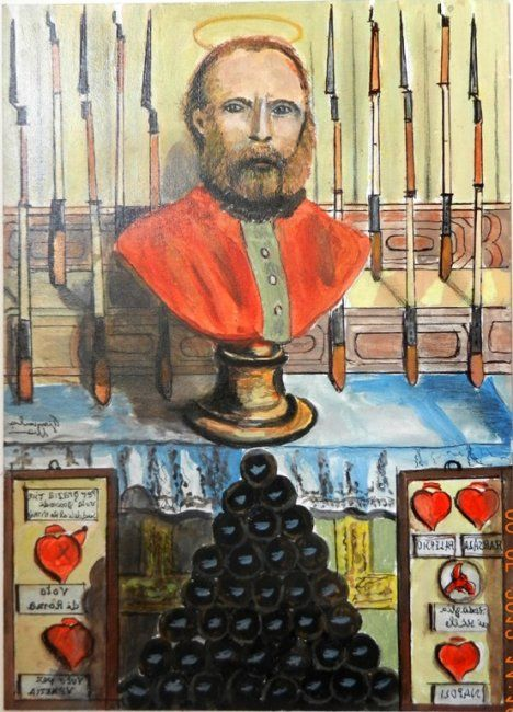 Garibaldi beatificato - Painting,  30x40 cm ©2012 by Giancarla -