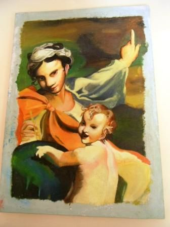 Immagine sacra - Painting,  30x60 cm ©2012 by Giancarla -