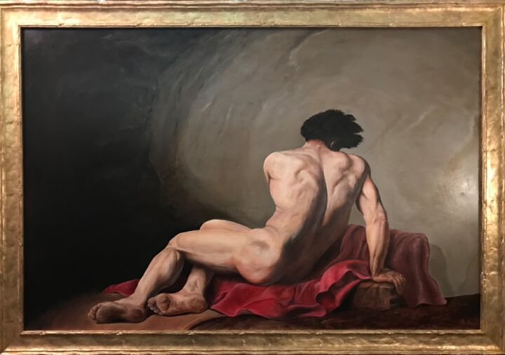 """Painting titled """"Patroclo di Jaques…"""" by Gianluca Conoscenti, Original Art, Oil"""