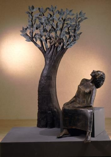 GIANNA - Sculpture,  78.7x55.1x35.4 in, ©2002 by Marcello Giannozzi -