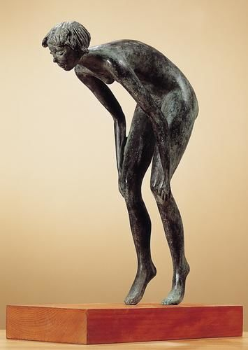 TUFFATRICE - Sculpture,  15.8x10.6x4.7 in, ©2003 by Marcello Giannozzi -