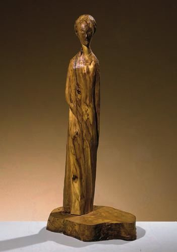 OLIVIA - Sculpture,  56x18x22 cm ©2000 by Marcello Giannozzi -