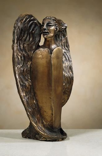 ANGELO - Sculpture,  13.8x7.9x4.7 in, ©2000 by Marcello Giannozzi -