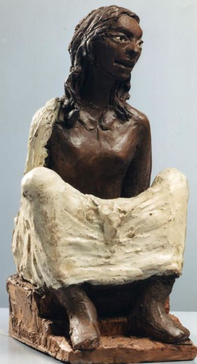 NEGRETTA - Sculpture,  29x14x17 cm ©2000 by Marcello Giannozzi -