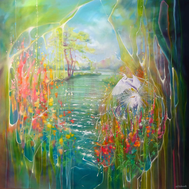 """Painting titled """"Through the Veil"""" by Gill Bustamante, Original Art, Oil"""