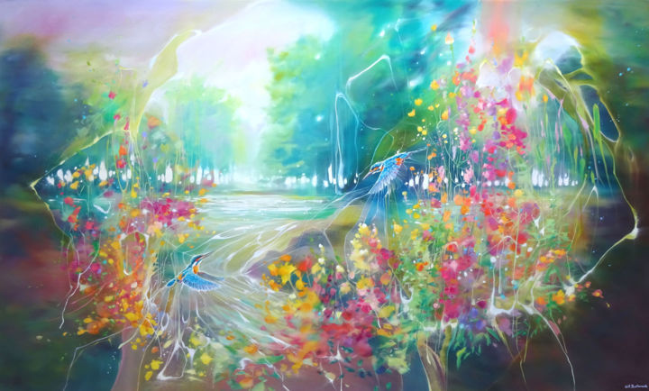 """Painting titled """"The Enchanted"""" by Gill Bustamante, Original Art, Oil"""