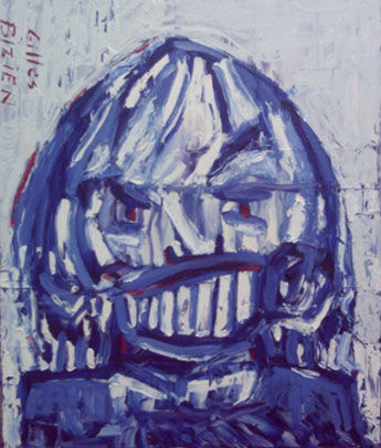Les dents - Painting,  25.6x21.3 in, ©2006 by Gilles Bizien -