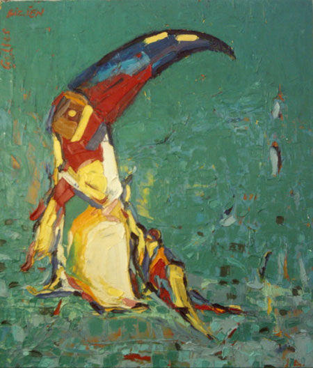 Toucan - Painting,  28.7x23.6 in, ©2006 by Gilles Bizien -
