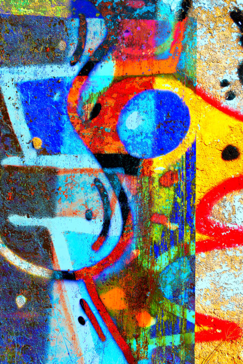 sans titre - Digital Arts, ©2018 by Gilles Mével -                                                                                                                                                                                                                                                                                                                                                                                                                                                                                                                                                                                                                                          Abstract, abstract-570, Paper, Plexiglass, Abstract Art, Graffiti, art digital, composition, graphisme, couleurs, abstraction, street art, mosaique
