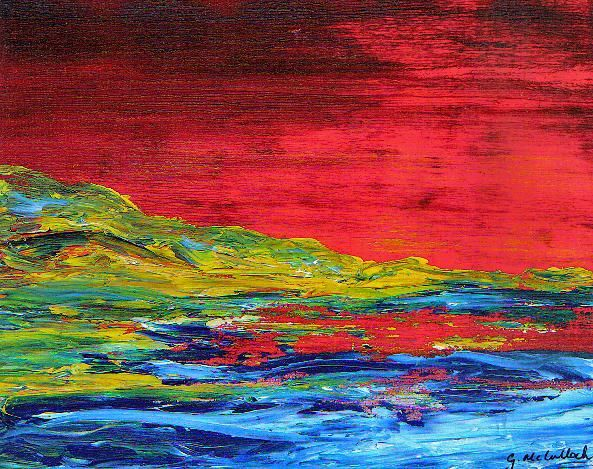 THE SCARLET SKY - Painting, ©2006 by Gill Mcculloch -