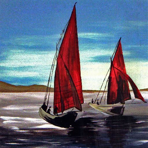 RED SAILS - Painting, ©2006 by Gill Mcculloch -