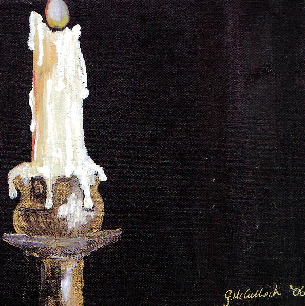 WAX ON BLACK 2 - Painting, ©2006 by Gill Mcculloch -