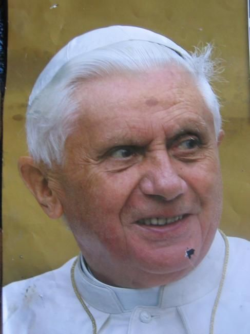 Benedetto  XVI - Painting, ©2007 by Gino Loperfido -
