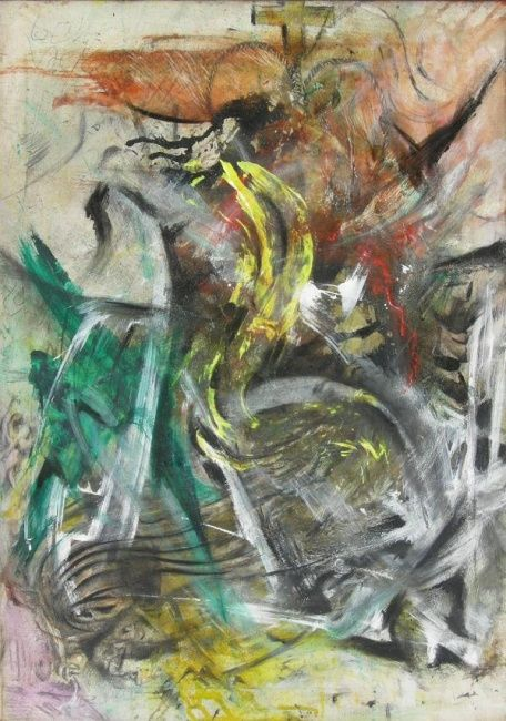 ASCENSION.jpg - Painting,  27.6x19.7 in, ©2010 by Gino Loperfido -