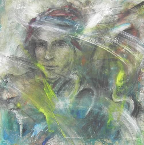 MSL e GLOK - Painting,  19.7x19.7 in, ©2010 by Gino Loperfido -
