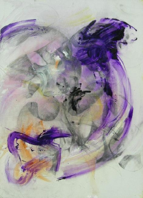 TAM...AR - Painting,  27.6x19.7 in, ©2010 by Gino Loperfido -