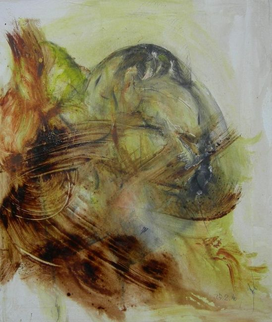SALE  ed  ALES - Painting,  23.6x19.7 in, ©2010 by Gino Loperfido -
