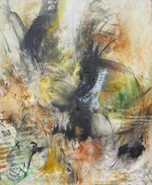 NOMEN OMEN - Painting,  23.6x19.7 in, ©2010 by Gino Loperfido -