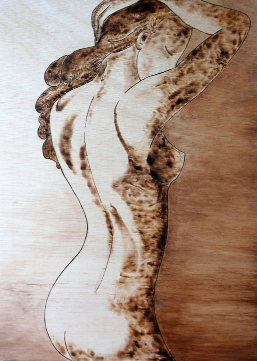 Burned Shadow, Divine feminine collection Painting by Gioia