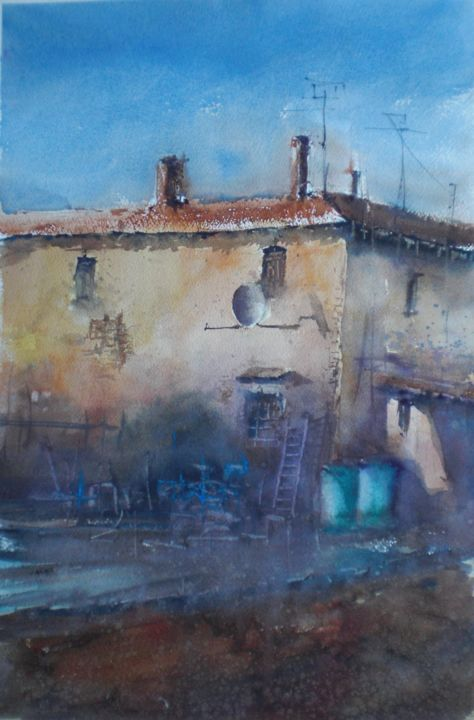 country house - © 2019 countryside, tuscany Online Artworks