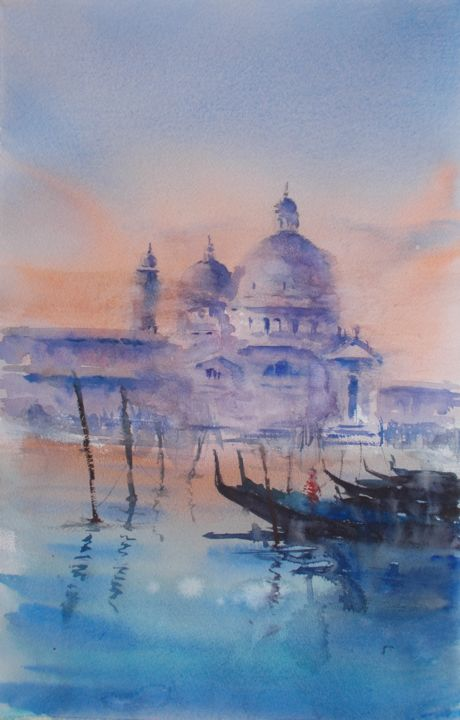 """Painting titled """"Venice 96"""" by Giorgio Gosti, Original Art, Watercolor"""