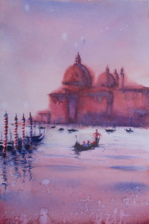 """Painting titled """"Venice 97"""" by Giorgio Gosti, Original Art, Watercolor"""