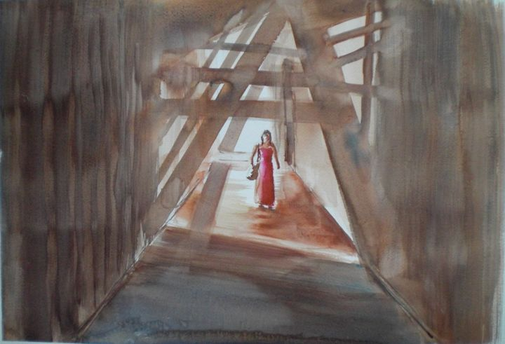 """Painting titled """"shadows"""" by Giorgio Gosti, Original Art, Watercolor"""
