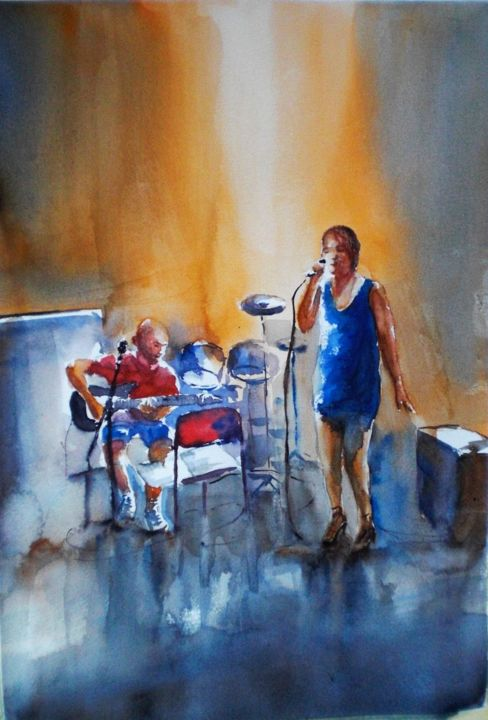 """Painting titled """"Let's rock"""" by Giorgio Gosti, Original Art, Watercolor"""
