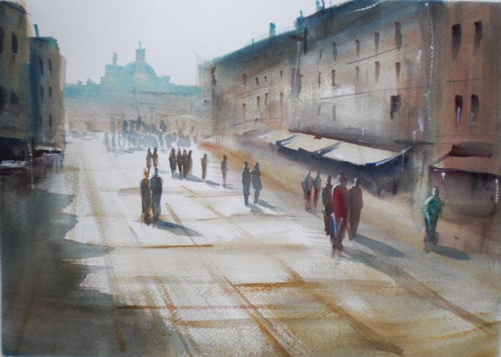 """Painting titled """"Venice 7"""" by Giorgio Gosti, Original Art, Watercolor"""