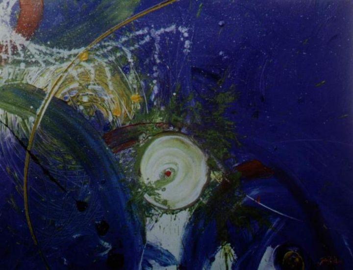 Melodia Celeste. - Painting,  19.7x25.6 in, ©2006 by Giov. D' And. -