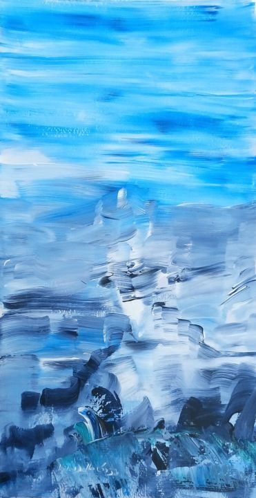 Sans Titre (Place...) - © 2016 keywords A, Keywords B, Keywords C, art, abstrait, spirituel, acrylique, bleu, exposition, gallery, international, artwords, painting Œuvres-d'art en ligne