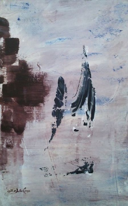 Eux  870 B - Peinture,  23,6x15 in, ©2012 par Gisèle Dalla Longa -                                                                                                                                                                                                                                                                                                                                                                                                                                                                                                                                          Abstract, abstract-570, keywords A, Keywords B, Keywords C, art, contemporain, painting, exhibition, gallery, internationale