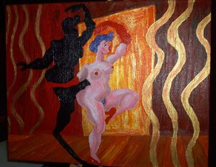 """Painting titled """"Cancan"""" by Luna, Original Art,"""