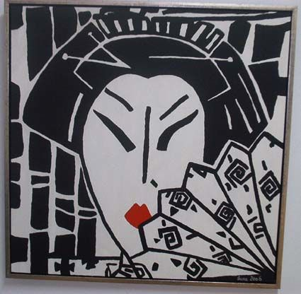 """Painting titled """"Japanese"""" by Luna, Original Art,"""