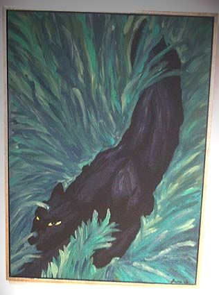 """Painting titled """"Panther"""" by Luna, Original Art,"""
